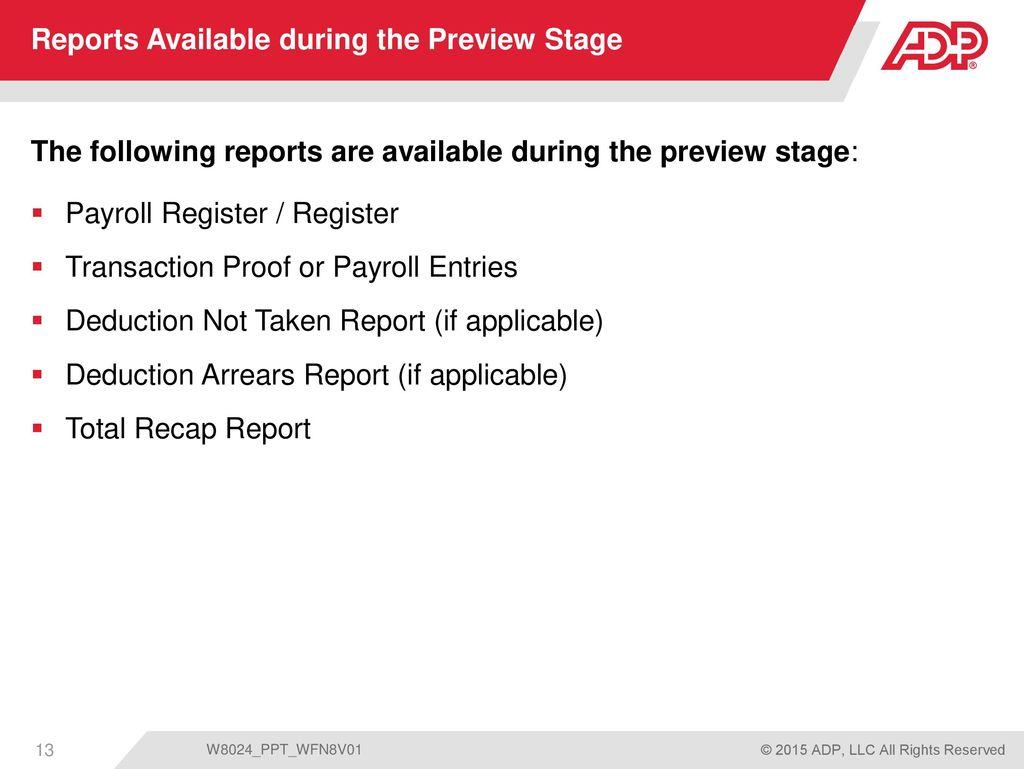 Payroll Output Reports & Balancing - ppt download