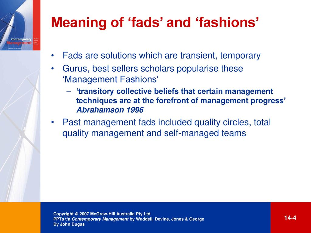 meaning of contemporary management