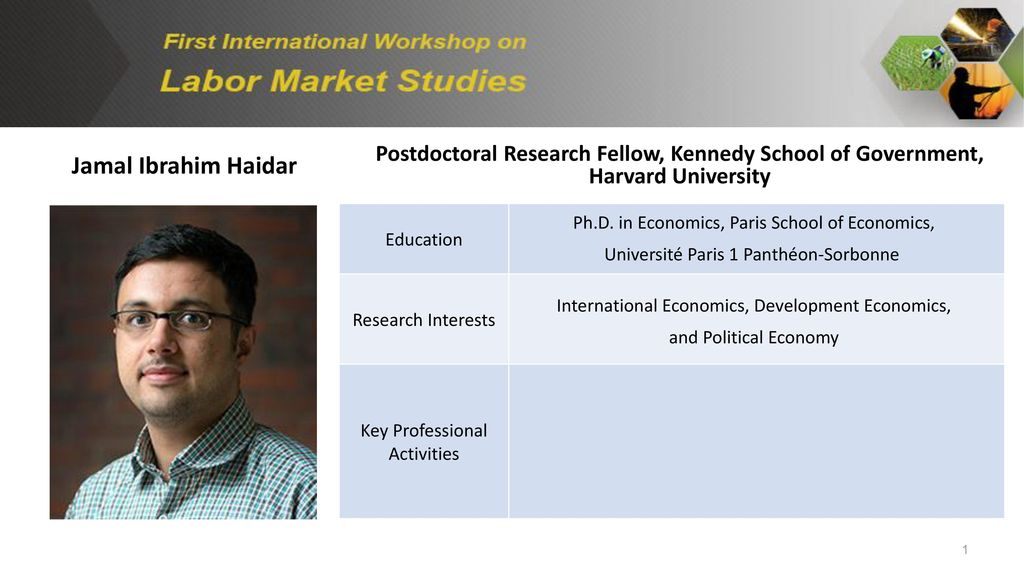 Jamal Ibrahim Haidar Postdoctoral Research Fellow, Kennedy