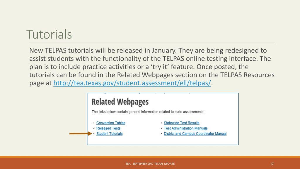 Ppt telpas texas english language proficiency assessment system.