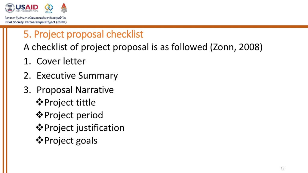 session ix elements of project proposal ppt download