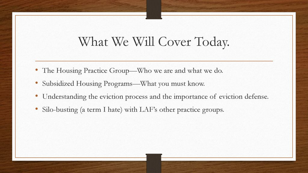 New Attorney Training (LAF/Housing) - ppt download