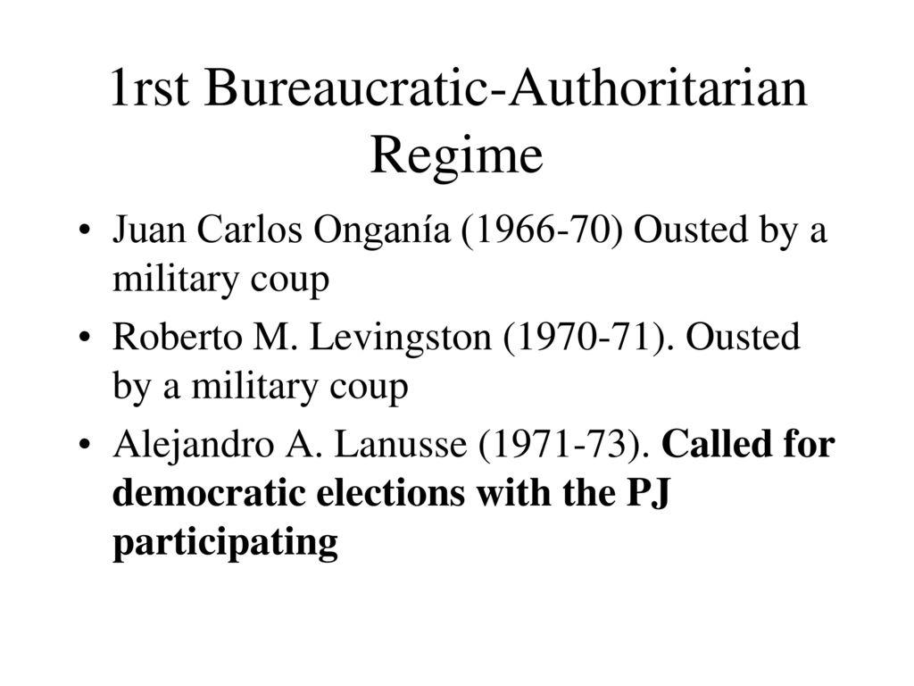 what is bureaucratic authoritarianism