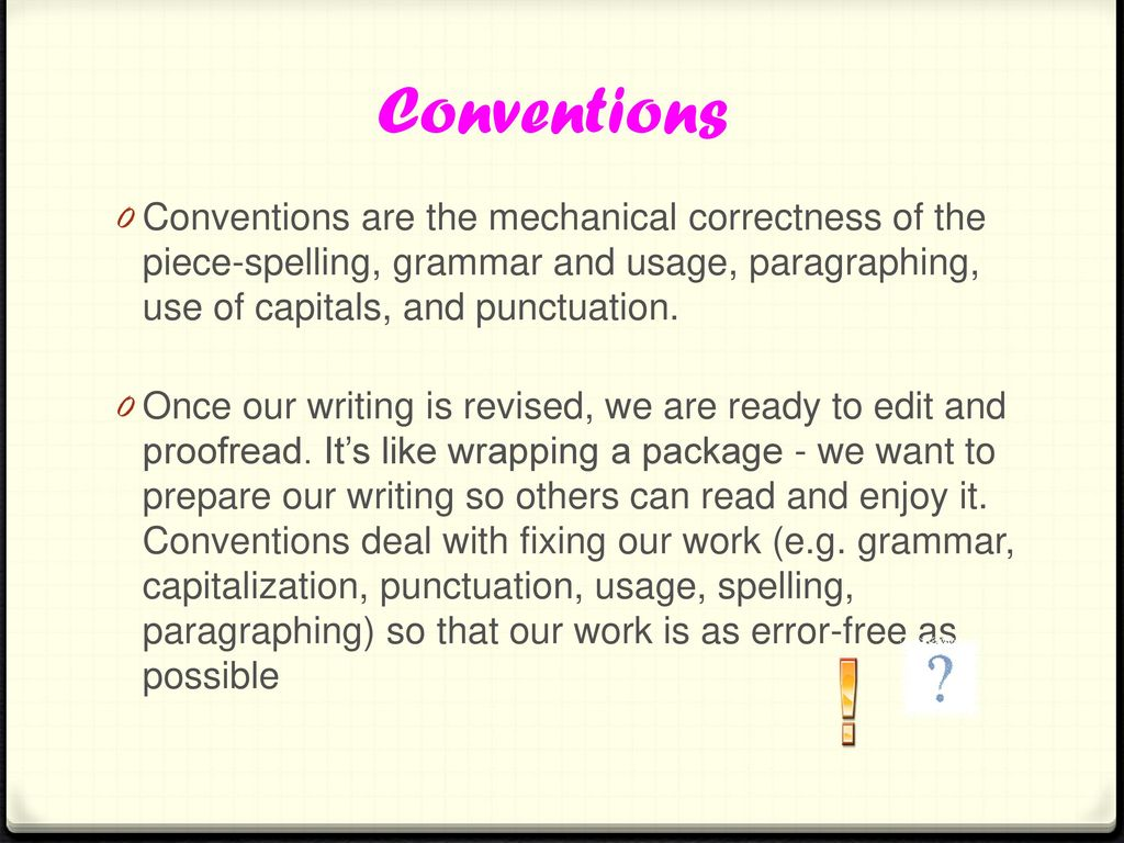 mechanical conventions