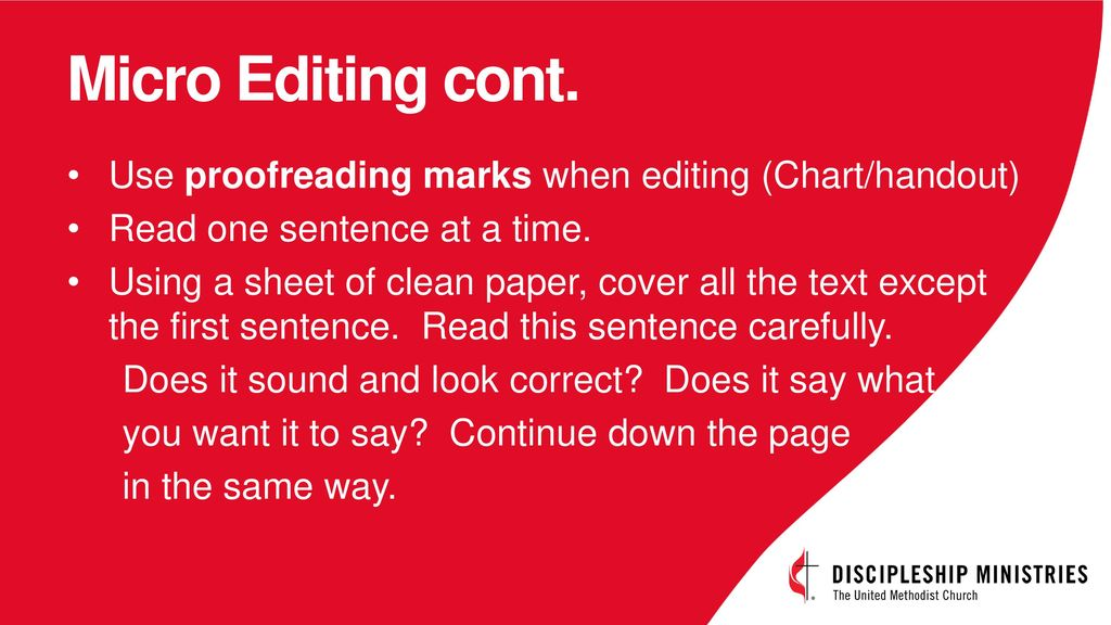 Writers Workshop Two Kinds Of Editing Ppt Download