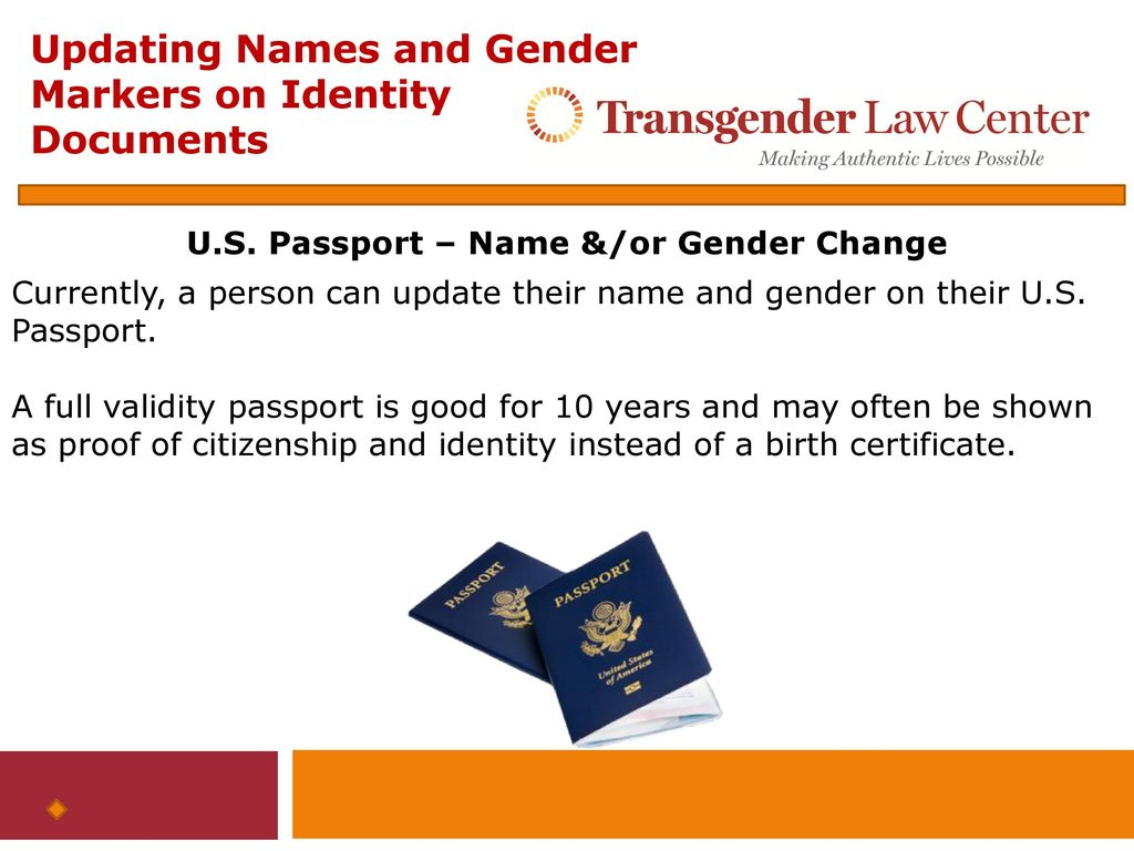 Updating Names And Gender Markers On Federal Identity Documents