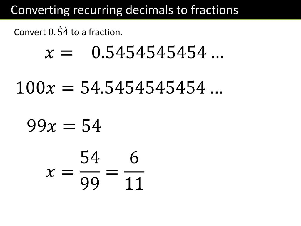Year 9: Fractions to/from Decimals - ppt download