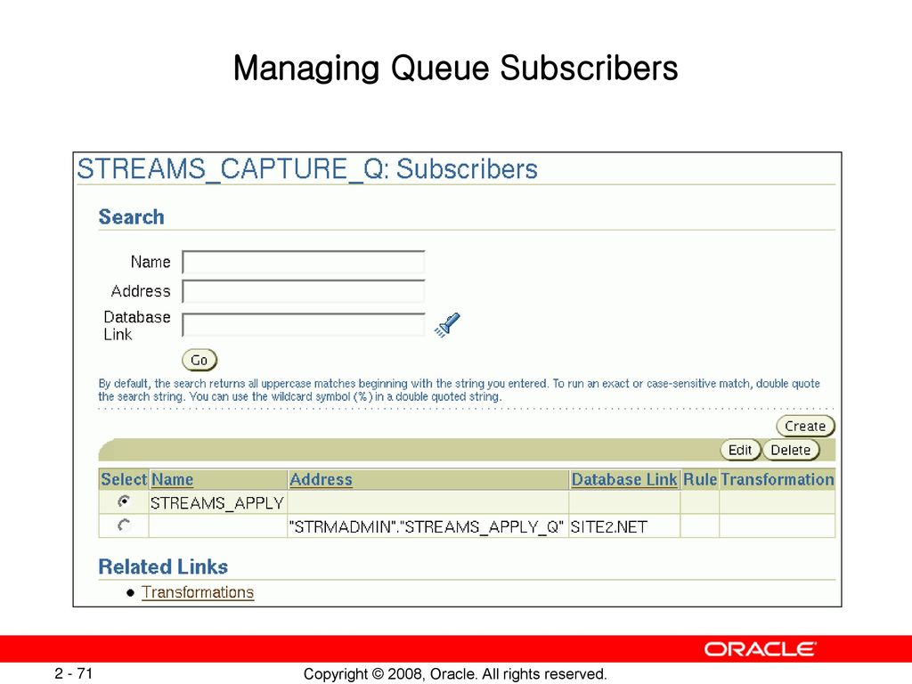 Introduction to Oracle Database 11g: Implement Streams - ppt
