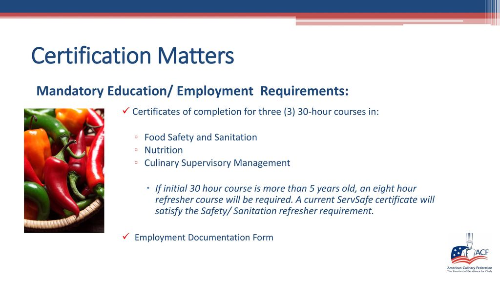 Certification Matters Ppt Download