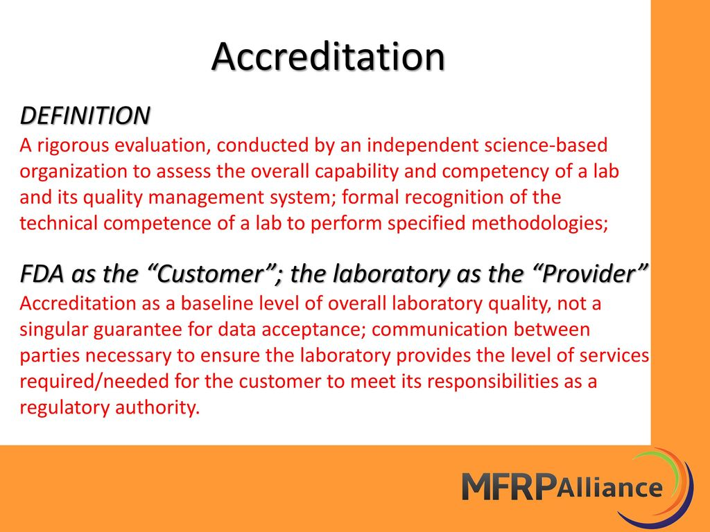 defining accreditation Accreditation is not compulsory, and non-accreditation does not necessarily mean it is not reputable, but it does provide independent confirmation of competence to find an accredited certification body, contact the national accreditation body in your country or visit the international accreditation forum.
