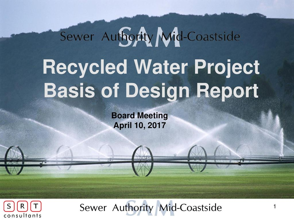 Recycled Water Project Basis of Design Report - ppt download