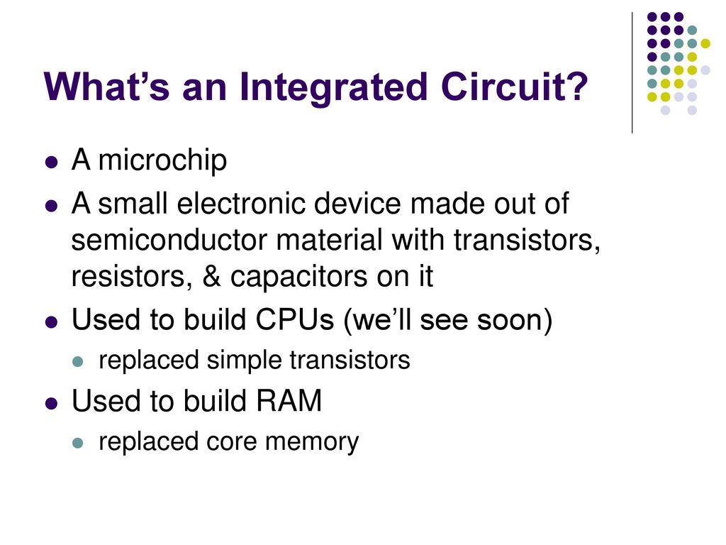 Cse 301 History Of Computing Ppt Download Integrated Circuit Transistors Manufacturers Whats An