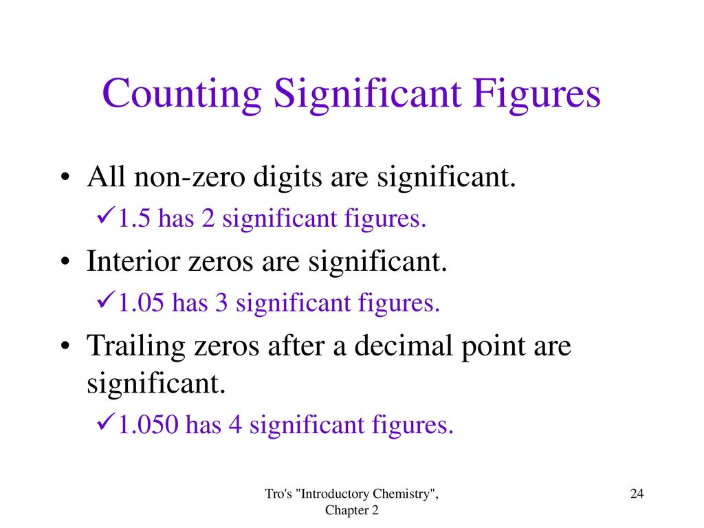24 Counting Significant Figures