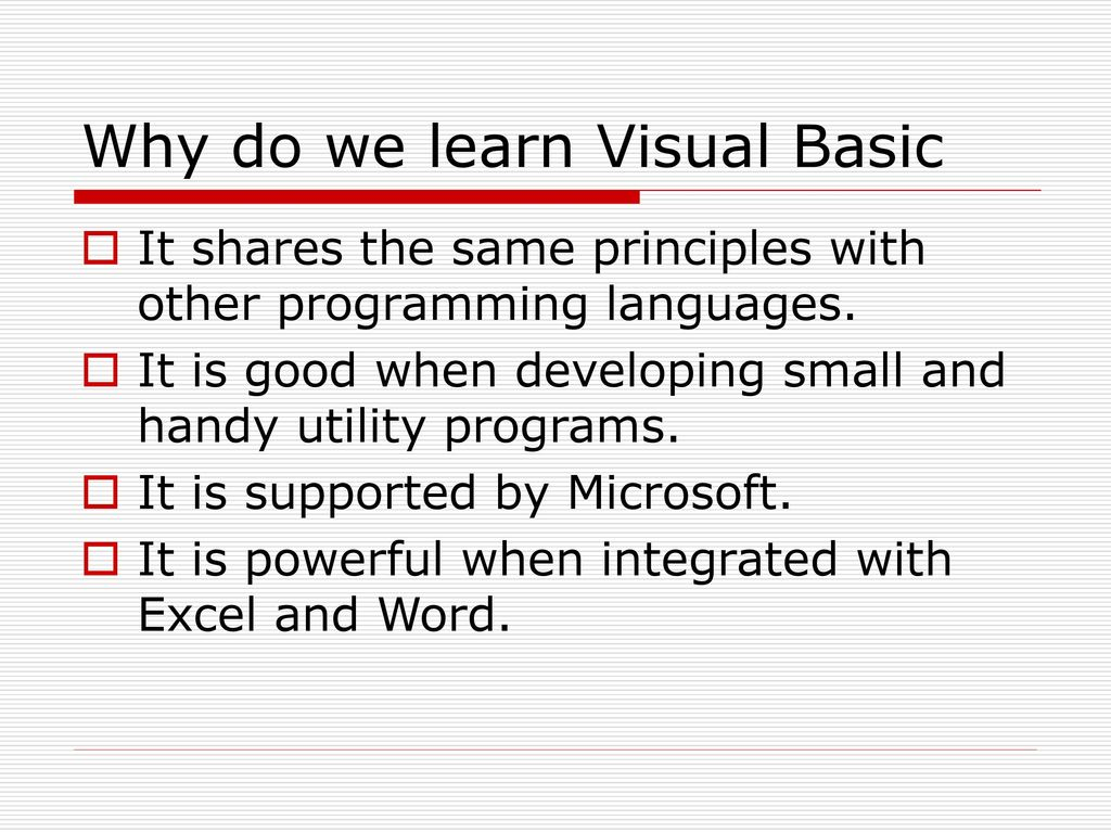 Introduction To Visual Basic 6 - ppt download