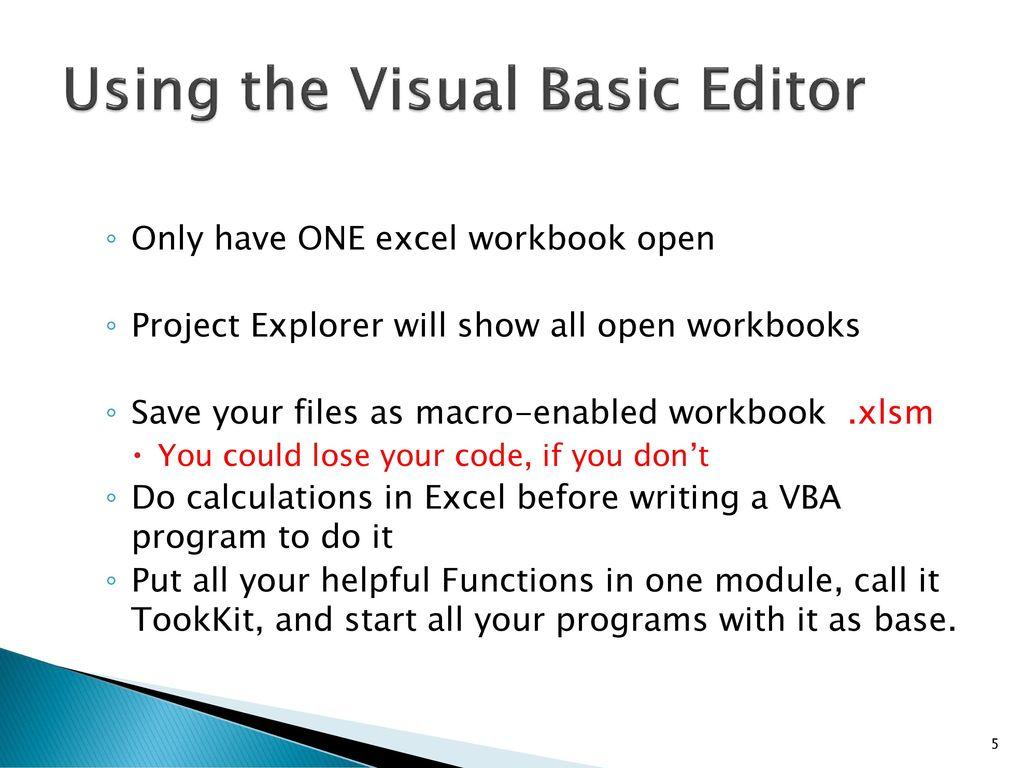 Workbooks excel macro workbooks open : Originally by Andrew Waldron Revised 5/27/ ppt download