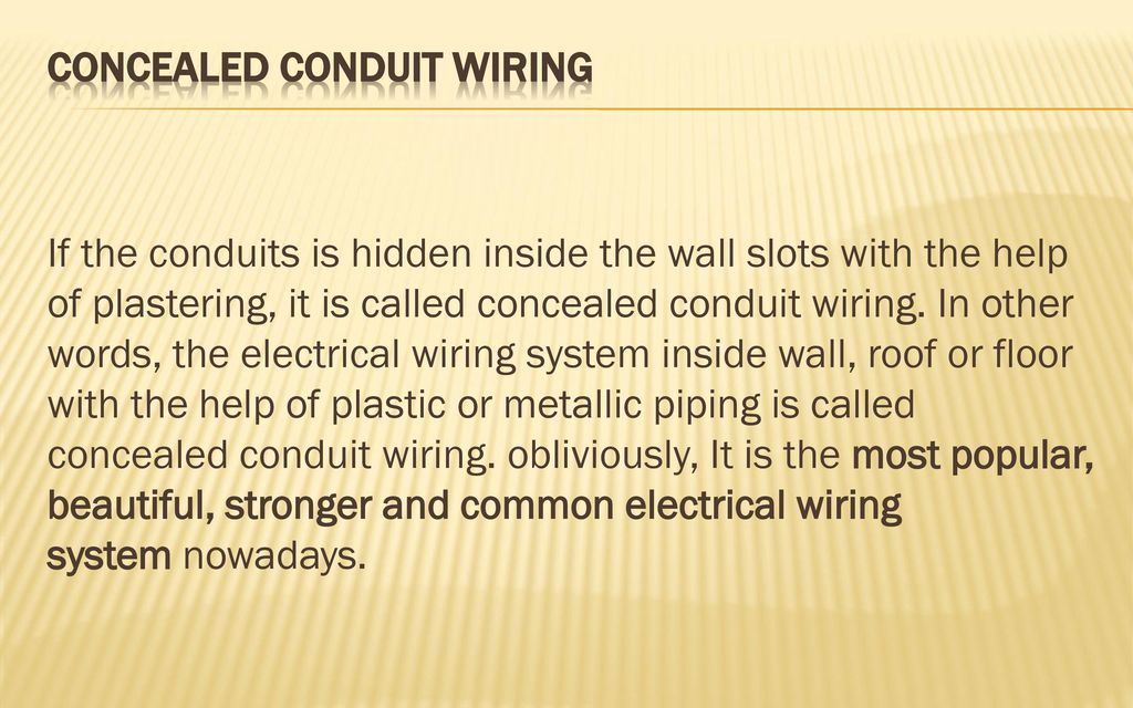 wiring system department electrical ppt download rh slideplayer com types of electrical wiring system ppt Bad Electrical Wiring