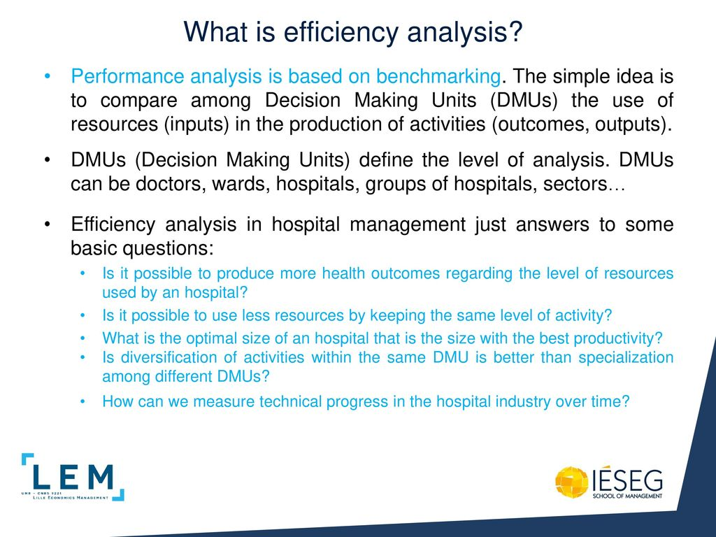 What Is Efficiency >> Efficiency Analysis In Hospital Management Ppt Download