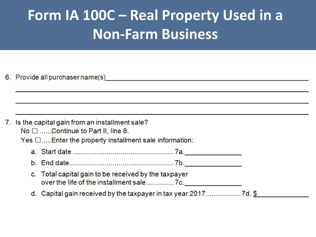 Iowa Tax Law Legislative Update & Iowa Capital Gain Deduction - ppt ...