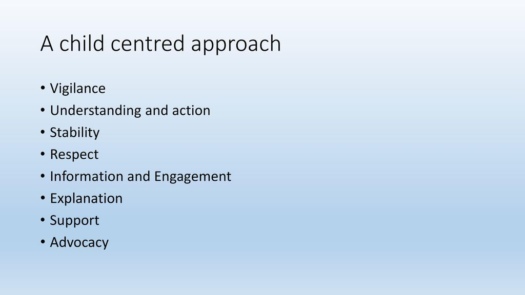 child centered approach to safeguarding