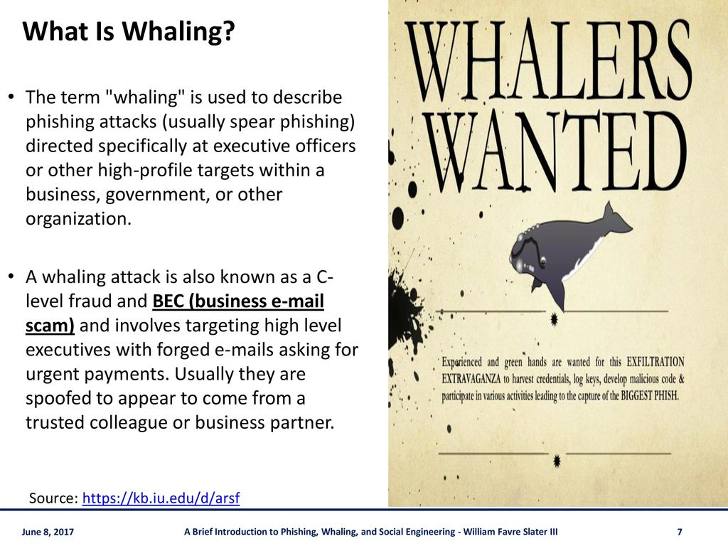 A Brief Introduction to Phishing, Spear Phishing, Whaling & - ppt