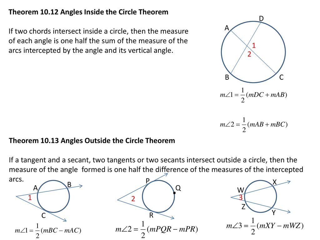 10.5 Apply Other Angle Relationships in Circles - ppt download