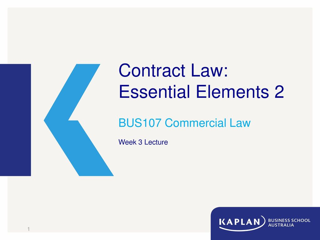 Contract Law Essential Elements 2