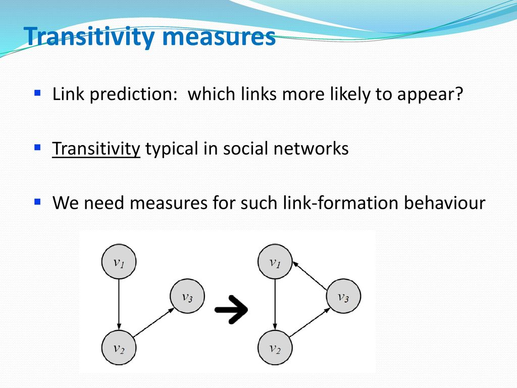 Transitivity measures