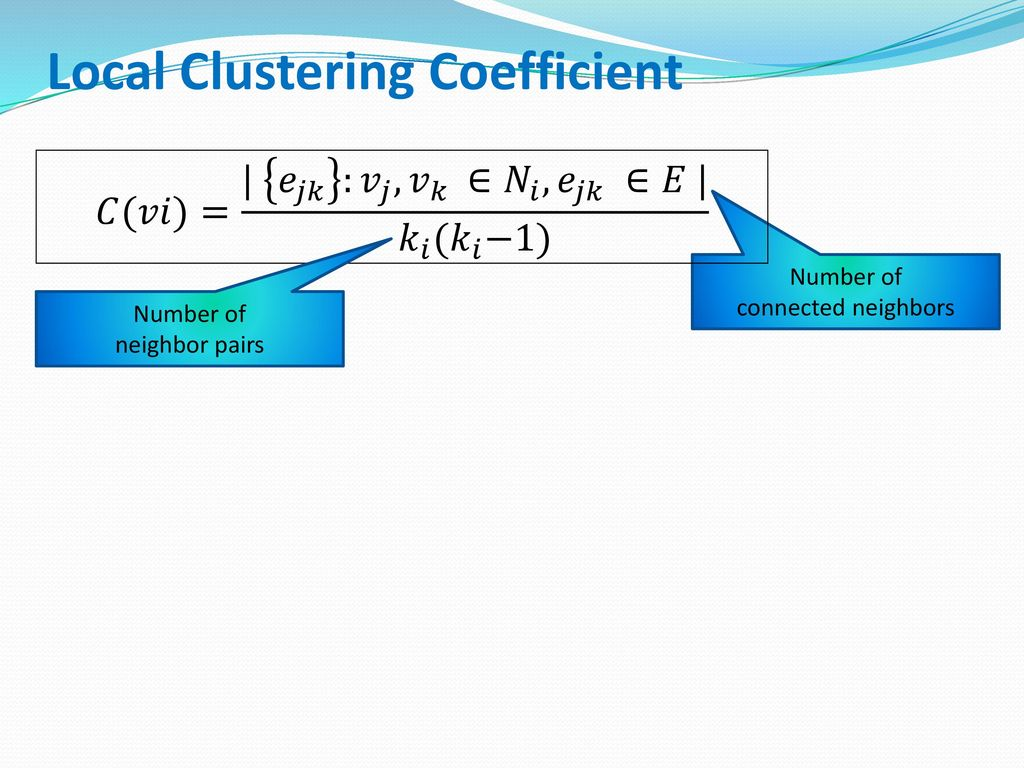 Local Clustering Coefficient