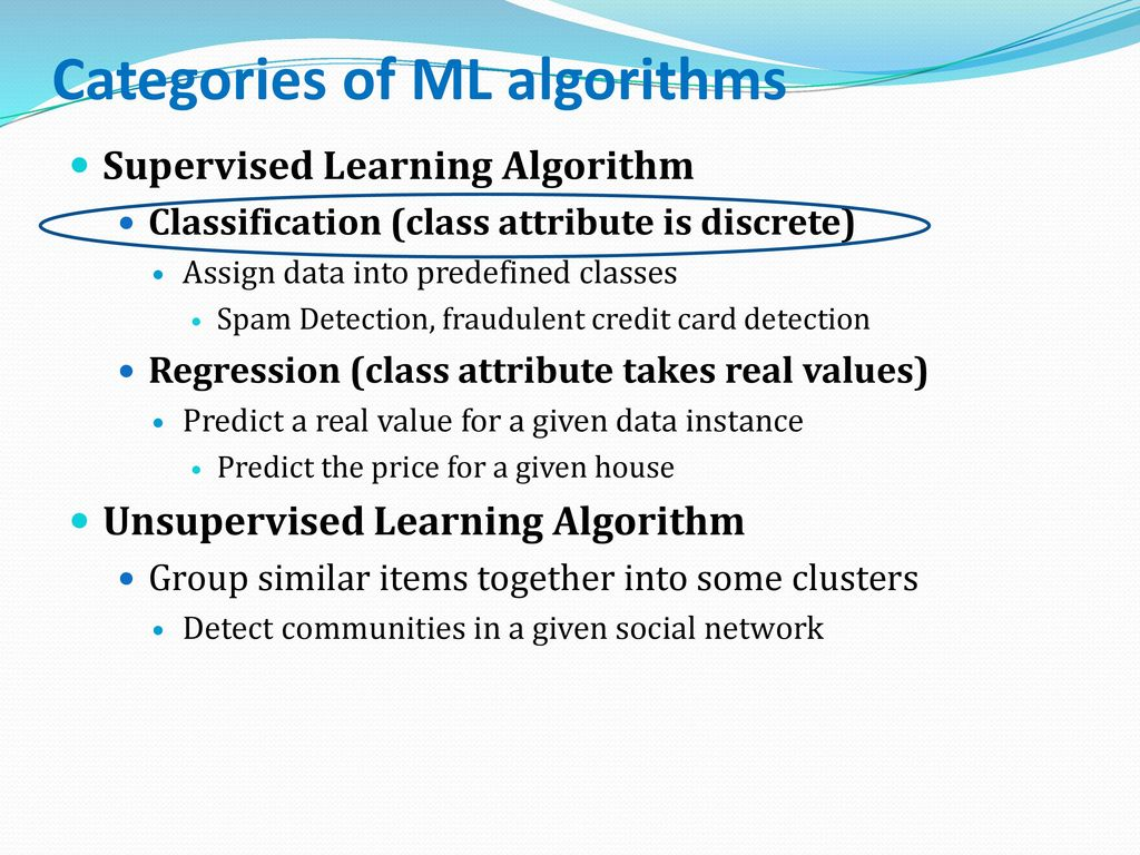 Machine Learning Herbert Alexander Simon: Learning is any process by which a system improves performance from experience.