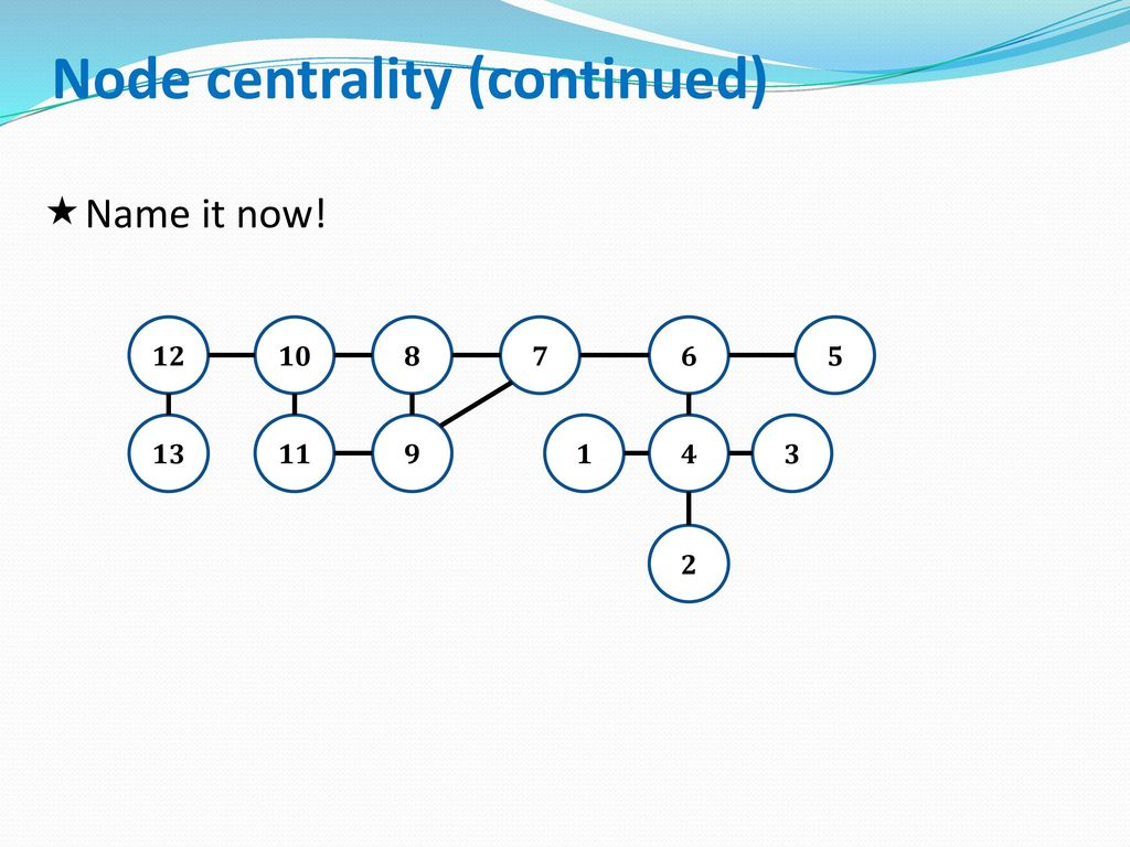 Node centrality (continued)