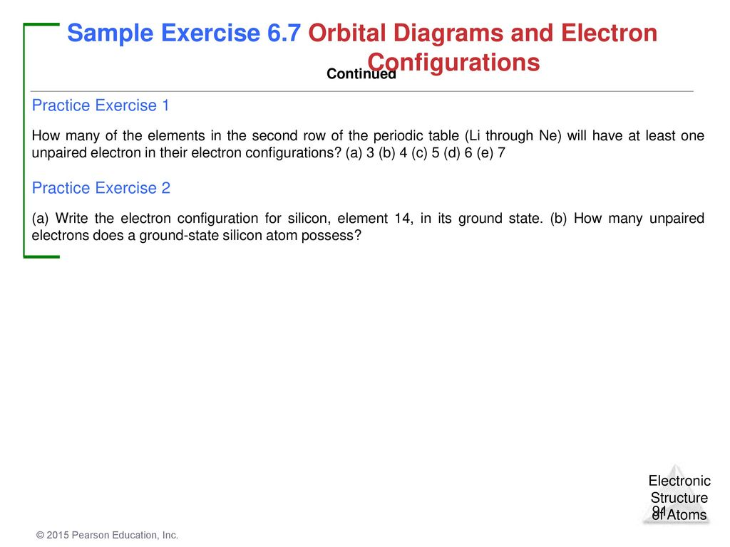 Chapter 6 Electronic Structure Of Atoms Ppt Download 3d Oxygen Atom Diagram This Is Our First The Has Two Unpaired Electrons Sample Exercise 67 Orbital Diagrams And Electron Configurations