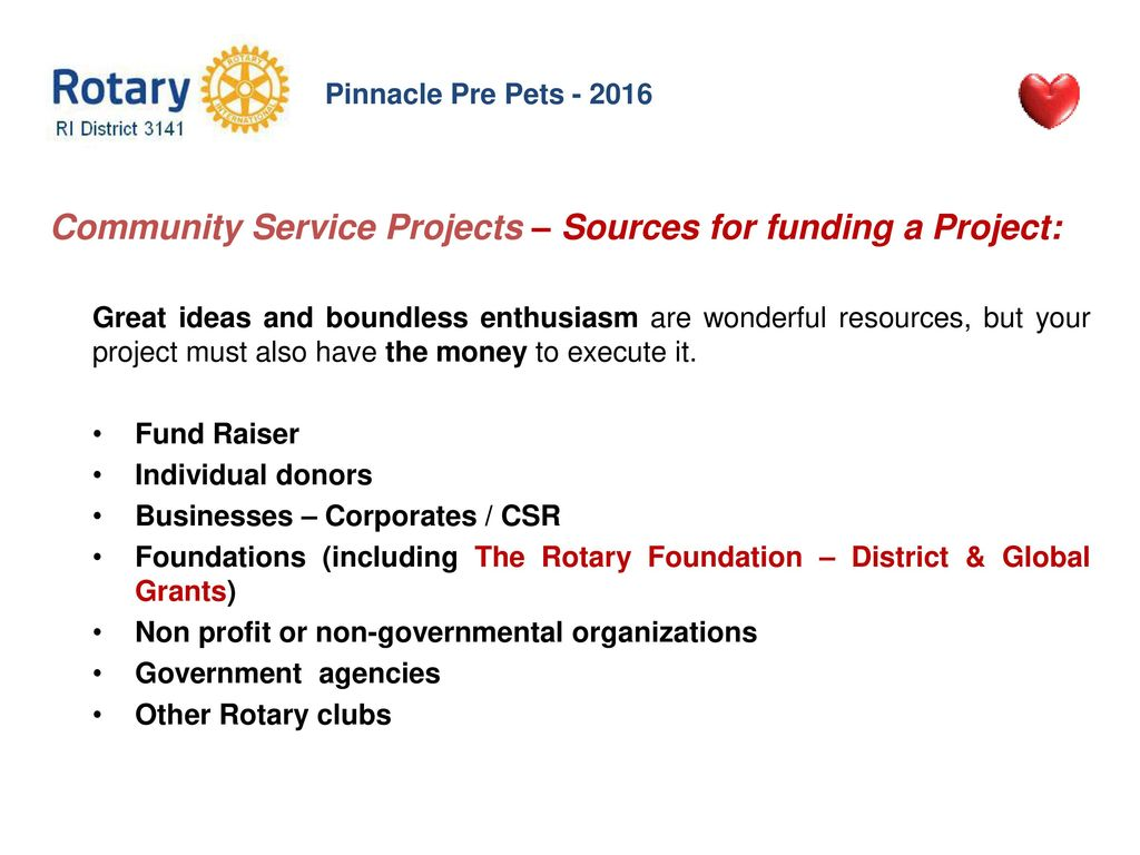 community service projects - ppt download