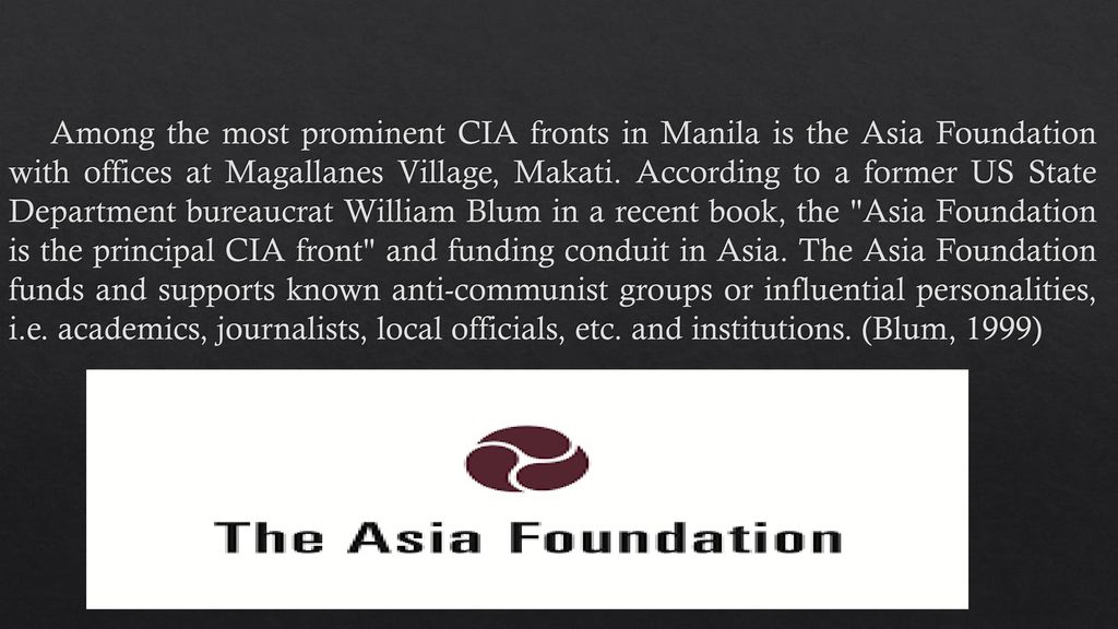 Image result for asia foundation CIA