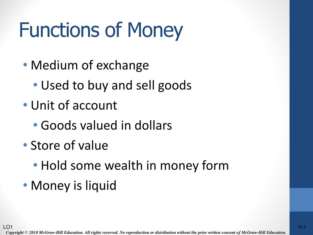 what is the most important function of money