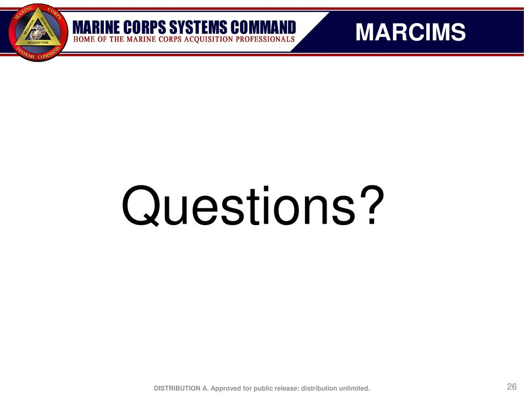 MARCIMS Marine Civil Information Management System (MARCIMS