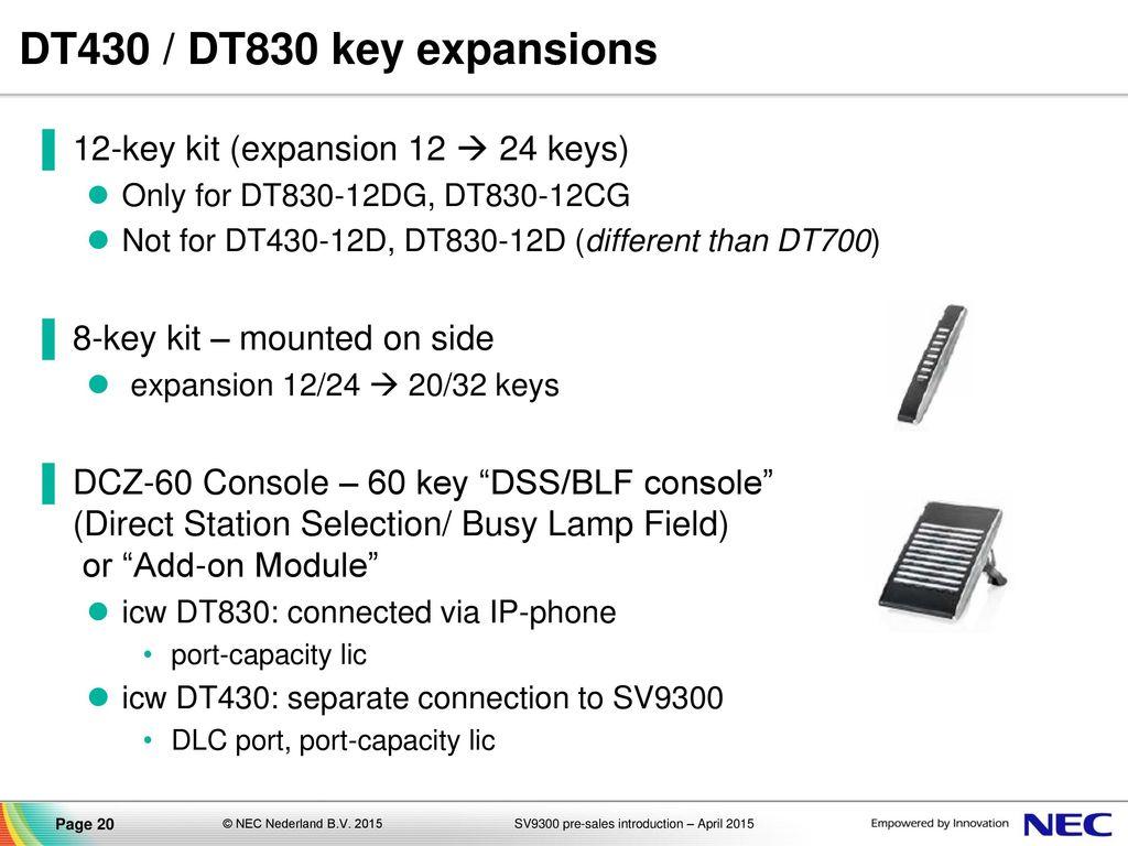 UNIVERGE SV9300 Communications Server pre-sales introduction (delta