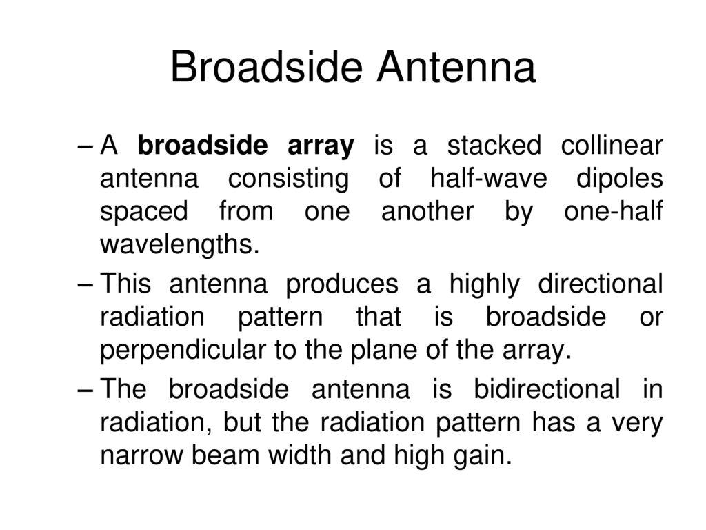 Broadside Array vs end-fire array - ppt download