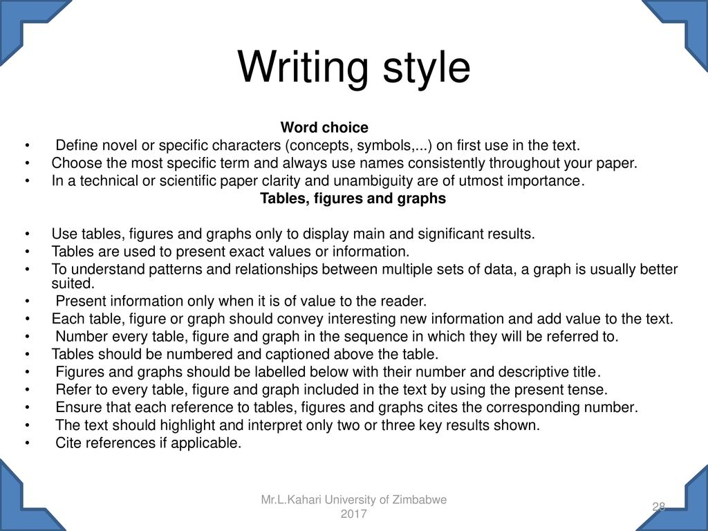 way of writing essay rules