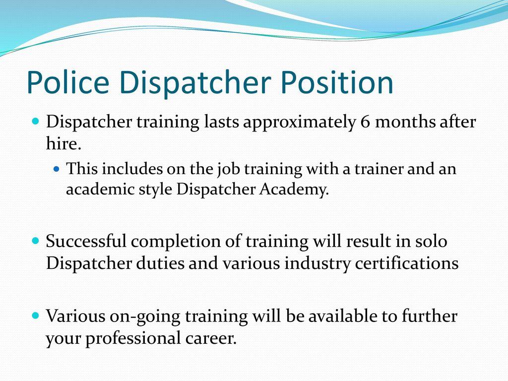 police dispatcher applicant guide ppt download rh slideplayer com