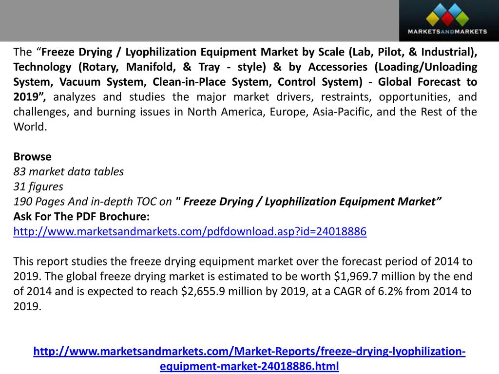 Freeze Drying Market worth $2,655 9 Million by ppt download