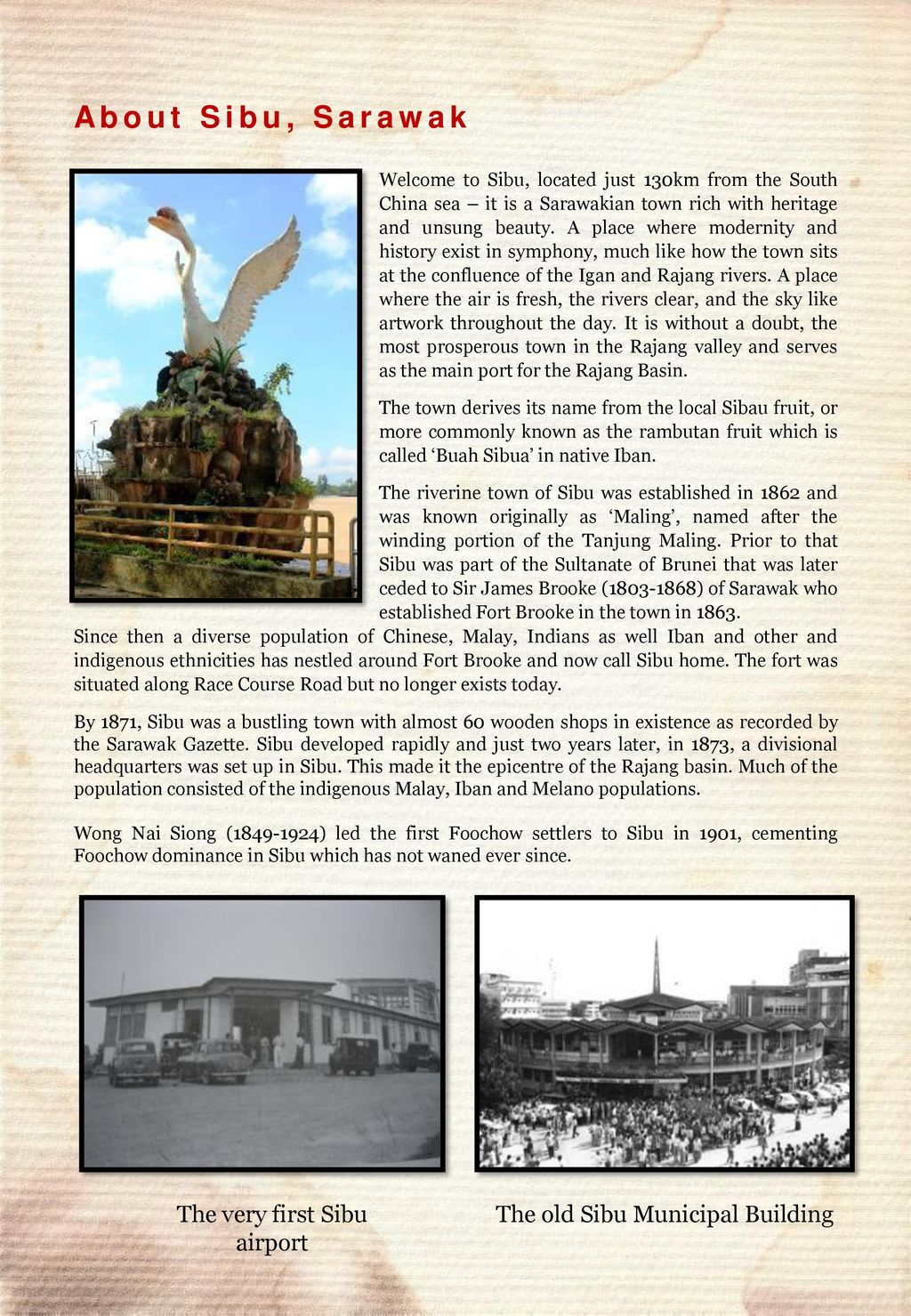 About Sibu, Sarawak The very first Sibu airport - ppt download
