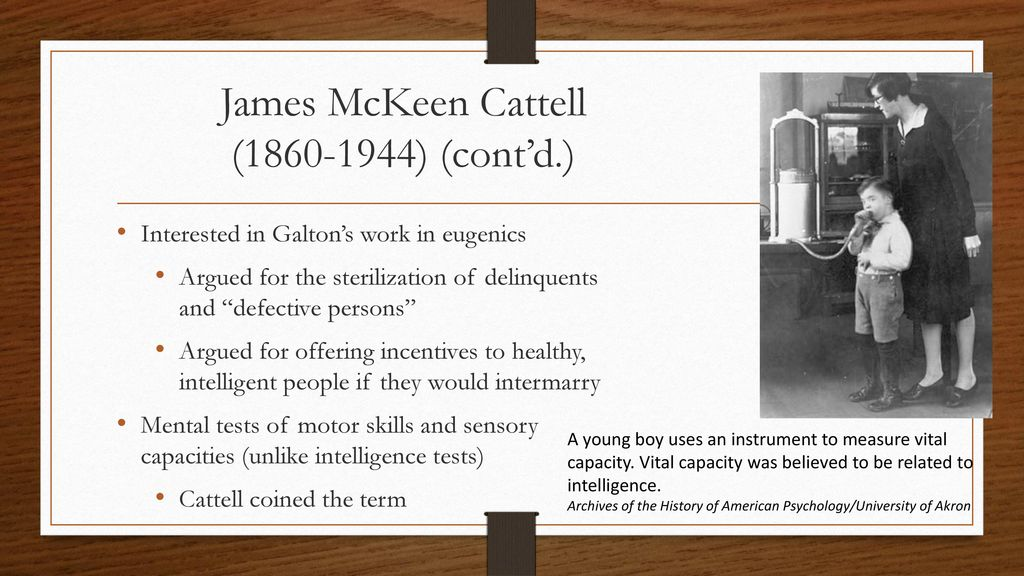 james mckeen cattell theory
