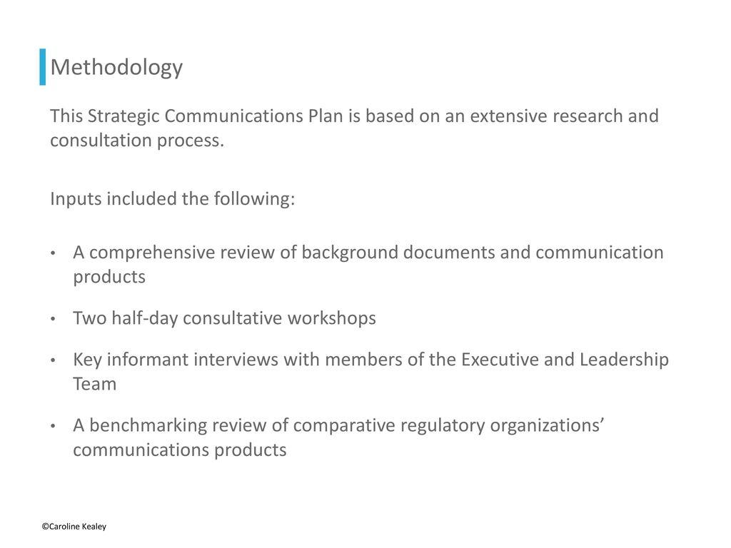 Strategic Communication Plan Sample Ppt Download