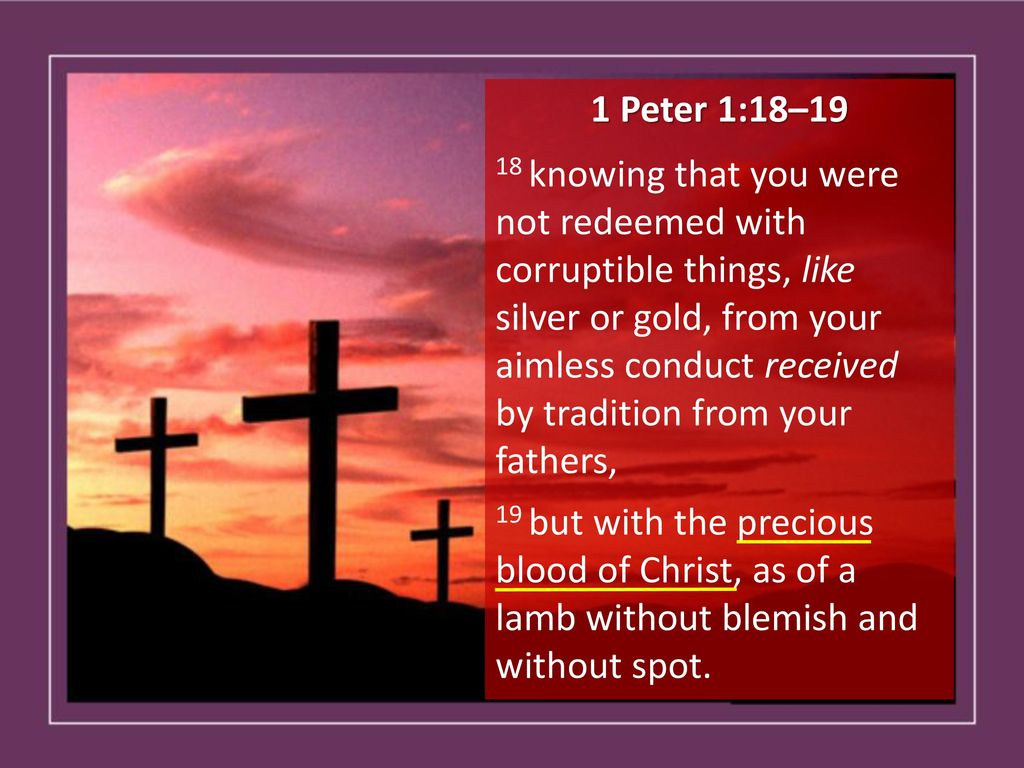 Image result for 1 peter 1:18-19