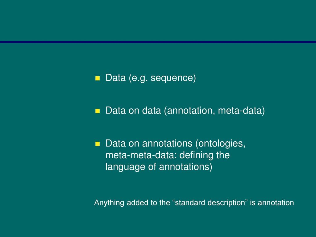 OR Bioinformatics – a definition ? - ppt download