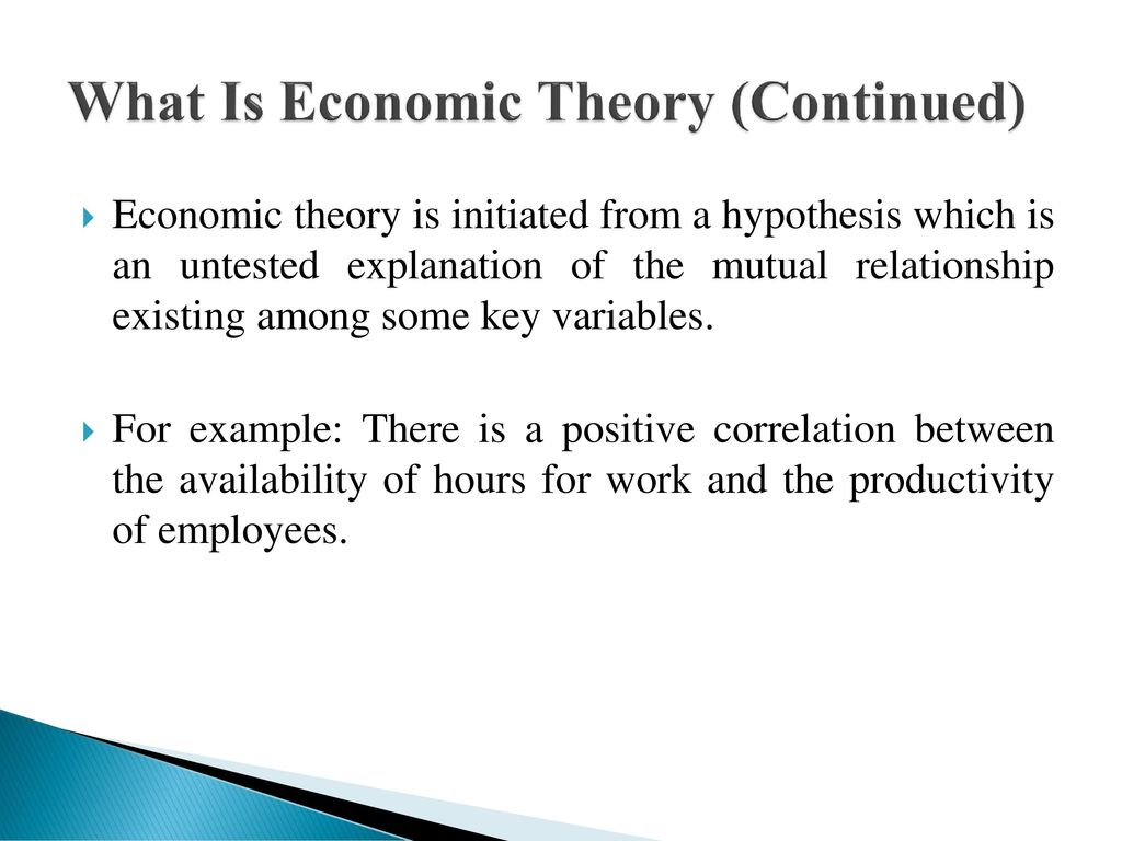 What is economic theory 38