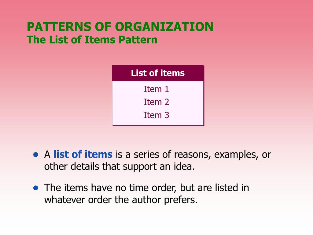 Pattern Of Organization Examples Awesome Inspiration Ideas