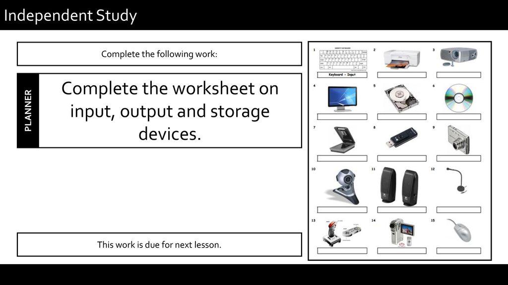 Hardware & Software Lesson 2 Hardware: Input, Output ...