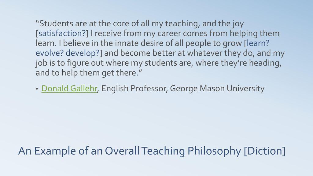 Statement of teaching philosophy ppt download an example of an overall teaching philosophy diction maxwellsz