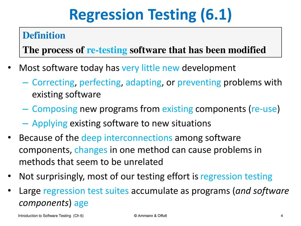 introduction to software testing chapter 6 practical considerations